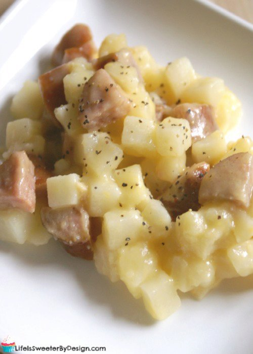 Smoked Sausage and Potato Casserole in the Crock Pot