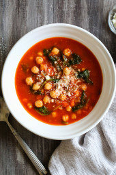 Chickpea Tomato Soup with Rosemary (Instant Pot, Slow Cooker and Stove Top)