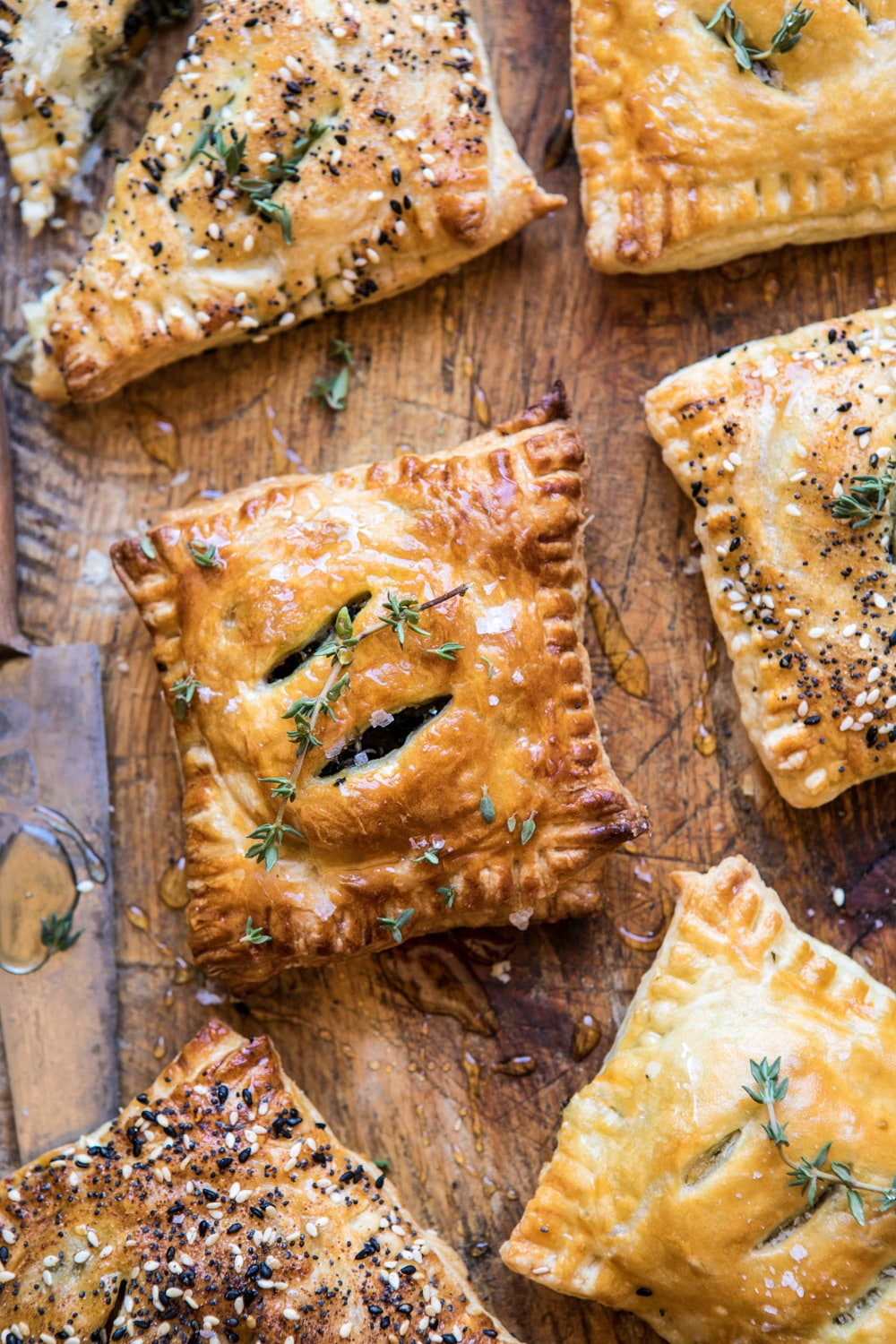 Caramelized Onion, Spinach, and Cheddar Flaky Pastries