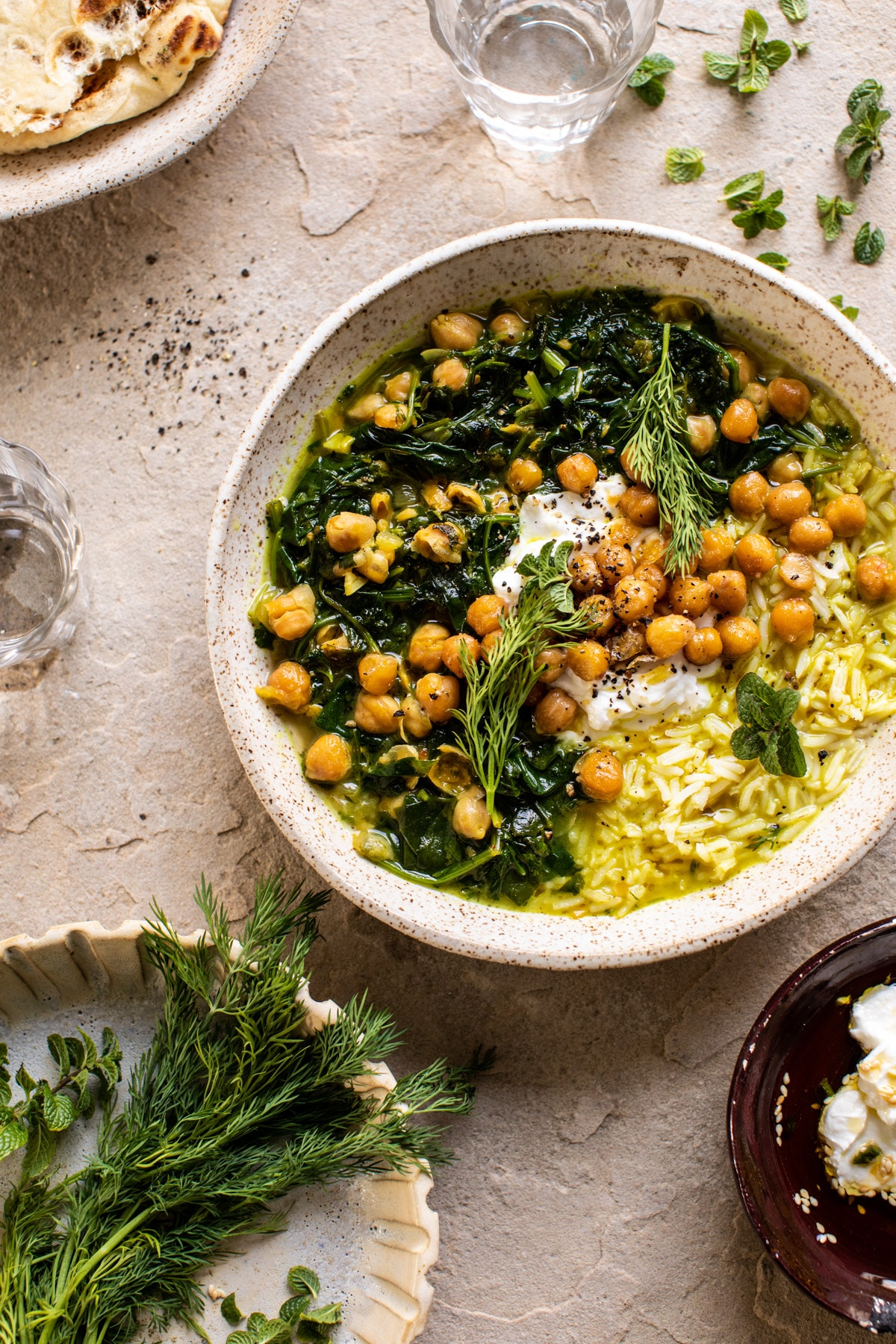 Persian Herb and Chickpea Stew with Rice.