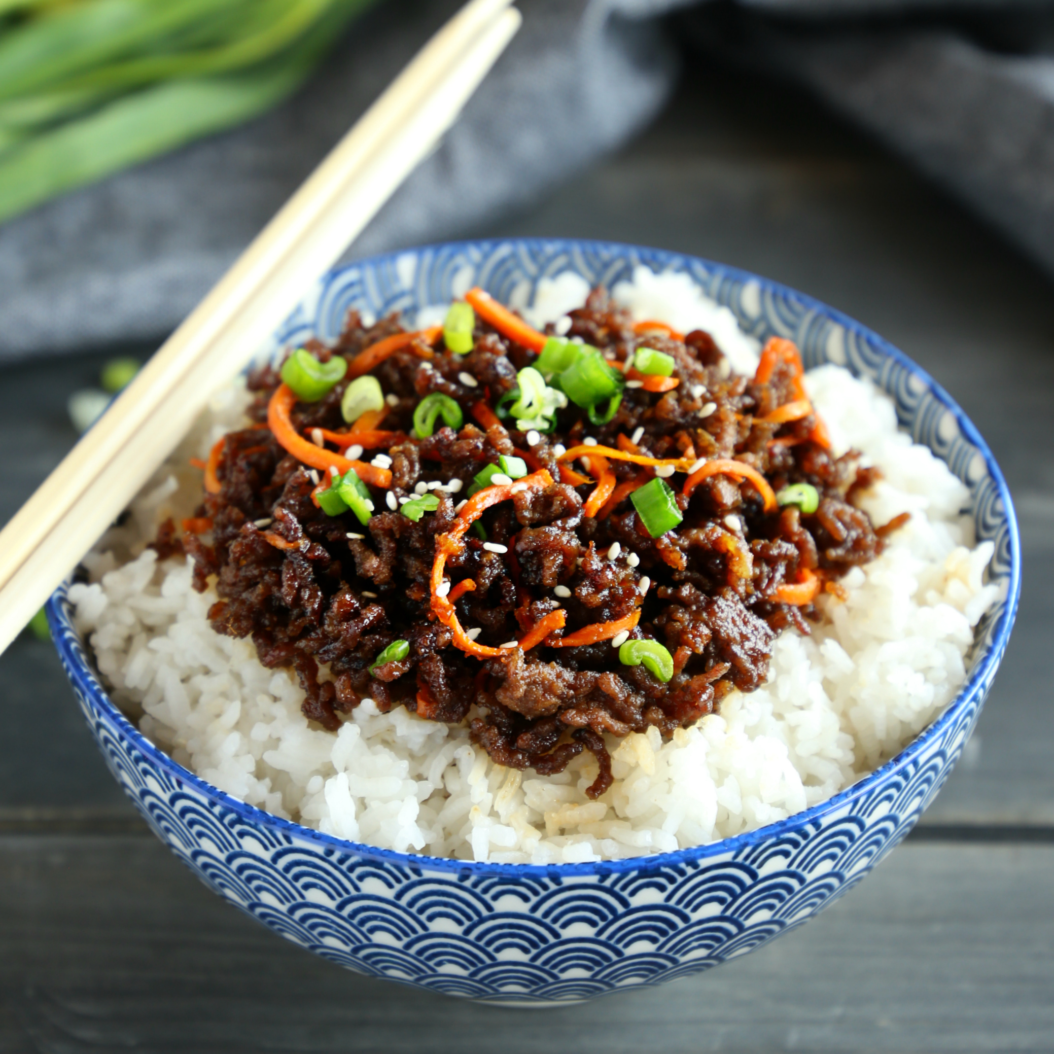 Easy Korean Beef Rice Bowls