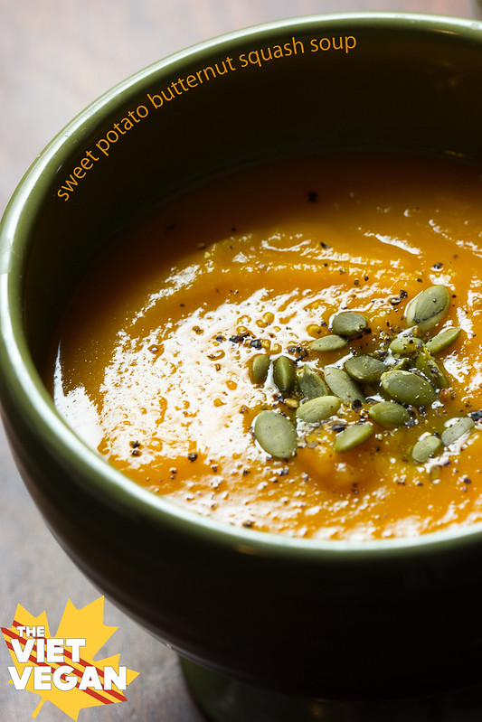 Sweet Potato and Butternut Squash Soup